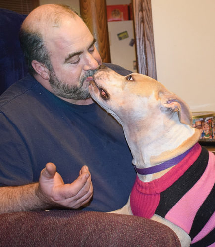 Joel Flick, of Williamsport, is a proud owner of a pit bull-type dog named Diamond. The 4 1/2-year-old was adopted from the Lycoming County SPCA and knows a few tricks including giving hugs and kisses.