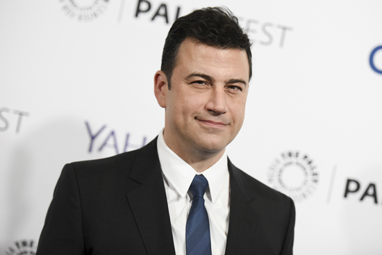 "FILE - In this March 8, 2015, file photo, Jimmy Kimmel arrives at the 32nd Annual Paleyfest : ""Scandal"" held at The Dolby Theatre in Los Angeles. Kimmel, who has twice hosted the Emmy Awards, will make his Oscars debut on Sunday, Feb. 26, 2017. He talked with the AP about his preparations, his pre-show rituals and what role politics might play that night. (Photo by Richard Shotwell/Invision/AP, File)"