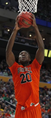 ASSOCIATED PRESS Nana Foulland returns next year as defending Patriot League player of the year.