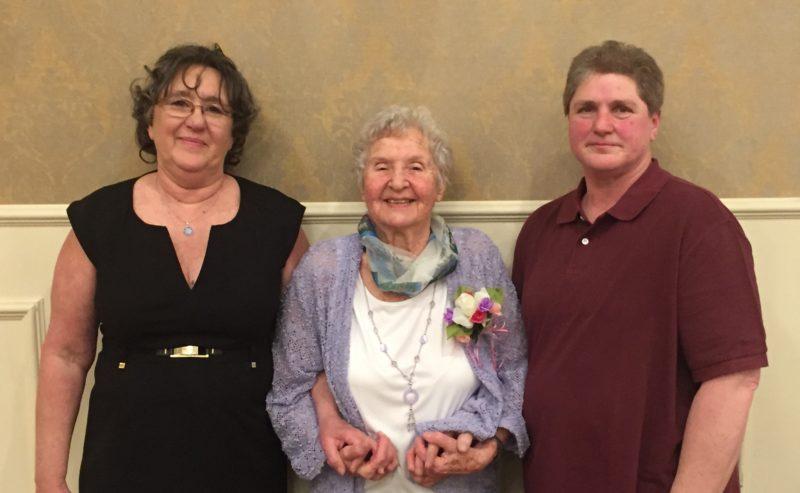 BEN BRIGANDI/Sun-Gazette Betsy Zimmerman, Josephine Wroblewski, and Brenda Brownawell were honored Saturday by the Williamsport Area Women's Bowling Association.