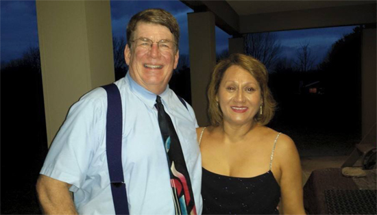 PHOTO PROVIDED Competitive dancers Tom Inman and Sylvia Lukpetris will talk about different styles of ballroom dancing 7 p.m. Tuesday, at the Robert M. Sides Family Music Center, 201 Mulberry St.