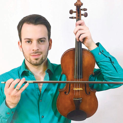 PHOTO PROVIDED Williamsport Symphony Orchestra's concertmaster Mark Minnich will perform 4 p.m. Sunday at the Mary Welch Honors Hall.