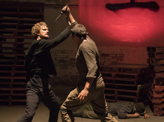 "This image released by Netflix shows Finn Jones, left, in a scene from the Netflix original series, ""Iron Fist."" The series is and NetflixÕs fourth Marvel project, after ÒDaredevil,Ó ÒJessica JonesÓ and ÒLuke Cage."" (Patrick Harbron/Netflix via AP)"