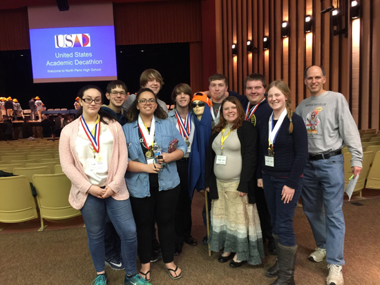 PHOTO PROVIDED Shown are Montoursville students during the Academic Decathlon State Finals earlier this month.