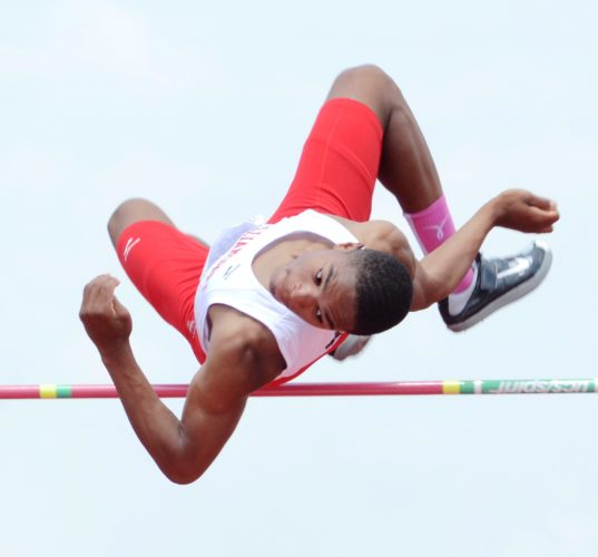 SUN-GAZETTE FILE Qayyim Ali won a PIAA title in the high jump in 2015 as a sophomore.