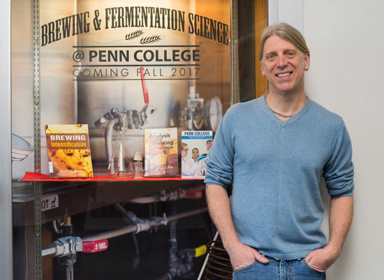 PHOTO PROVIDED Acclaimed brewmaster Timothy L. Yarrington, of Elk Creek Cafe + Ale Works in Millheim, will serve as an instructor for the new brewing and fermentation science major launching this fall at Penn College.