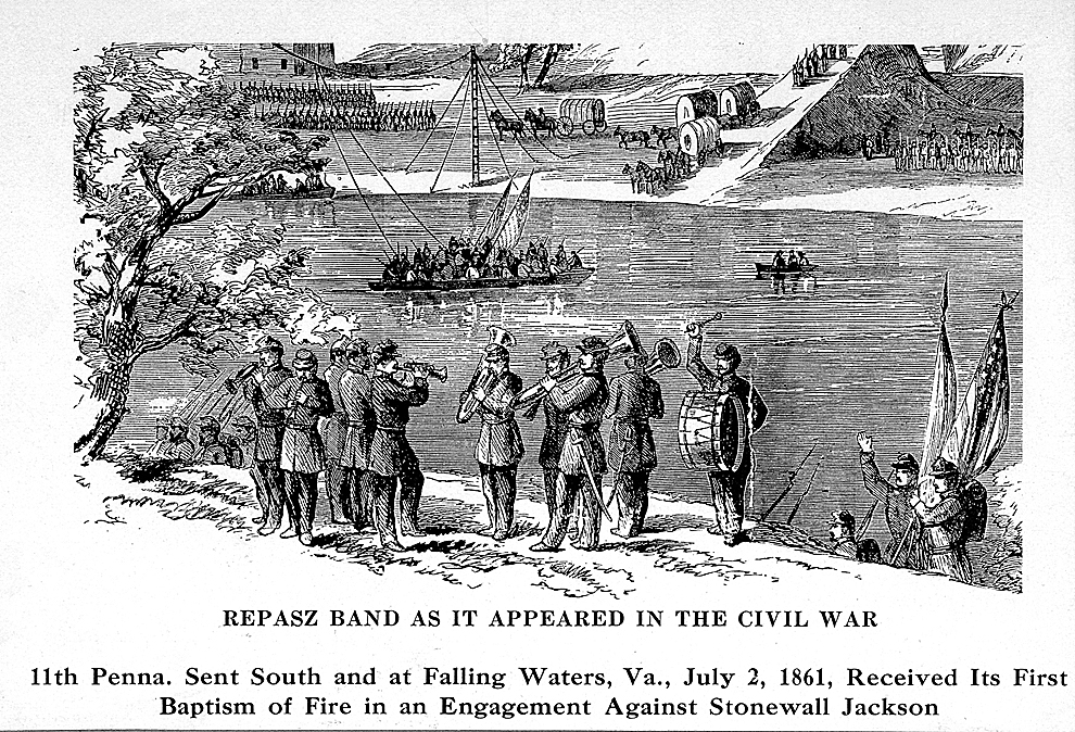 SUN-GAZETTE FILE ART The above drawing illustrates the Repasz Band as it appeared in the Civil War.