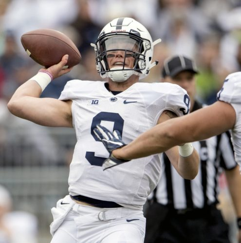 Penn State quarterback Trace McSorley passes during the Nittany Lions' Blue-White spring game on Saturday in State College. (AP)