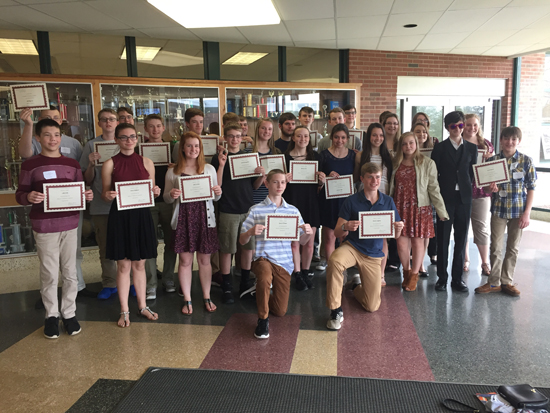 PHOTO PROVIDED Shown are Hughesville High School students who recently participated in a mathematics competition at Lock Haven University.