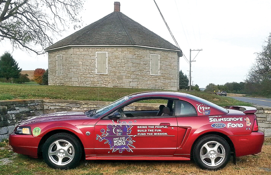 PHOTO PROVIDED Shown is the Ford Mustang, which is being raffled off, benefitting various area Relay For Life events.