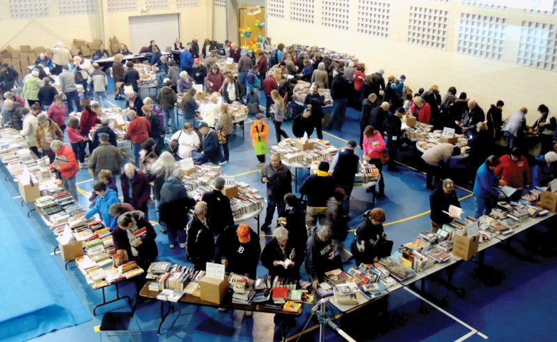 News File Photo Book lovers flocked to last year's Alpena News Newspapers in Education Book Sale. This year's sale is slated for Feb. 4.