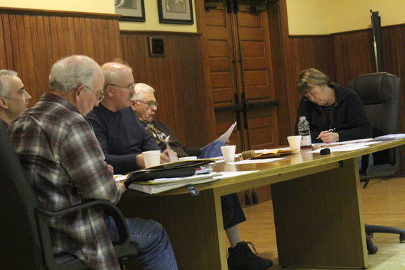 News Photo by Jordan Spence  The Onaway City Commission had its regular Monday, with most action items being tabled.
