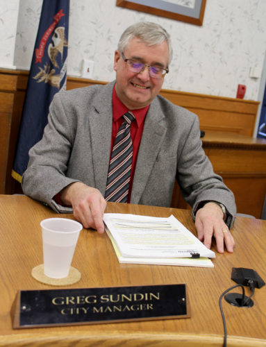 News Photo by Steve Schulwitz Alpena City Manager Greg Sundin gave his annual State of the City address to Alpena Municipal Council at Monday's meeting. A full transcript of the address is available on the city's website.