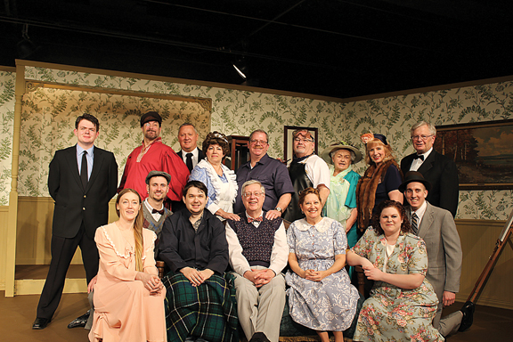 """Photo Courtesy of Bronwyn Woolman The cast for Alpena Civic Theatre's upcoming production of """"You Can't Take It With You"""" includes, front row left, Rachel Taratuta, Nick Stone, Nick Hartman, Karl W. Heidemann, Diane Lozon, Amanda Hulsey and Kevin Bey. Pictured in the back row are James Shultz, Matt Southwell, Ted Rockwell, Jackie Herbert, Scott Edgar, Randy Bouchard, Janet Romas, Karen Bacon and Bruce Michaud. Not pictured is Donna Gilmet-Reinke."""