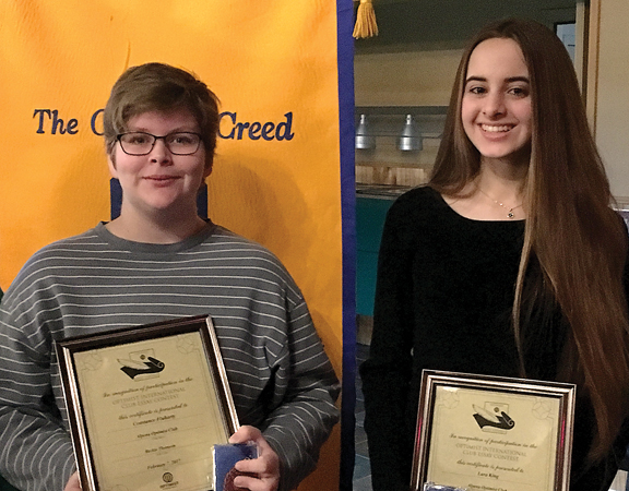 optimist club essay contest winners The optimist club of greater vienna awarded $600 to three local high school students at its feb 15 dinner meeting the students were winners of the annual optimists international essay contest, how my positive outlook benefits my community.