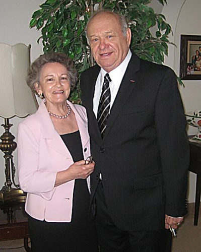 Courtesy Photos Ilario Fabbrini, right, with his wife Olga at their home in San Diego, Calif. Ilario once owned a frozen pizza factory in Ossineke.