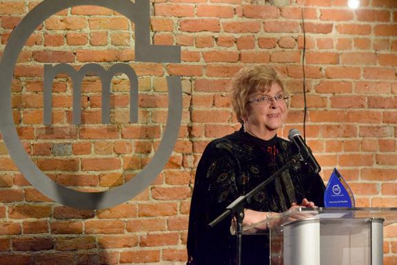 Courtesy Photo Former Alpena Mayor Carol Shafto receives the Honorary Life Membership Award at the 2017 Michigan Municipal League Awards Gala.