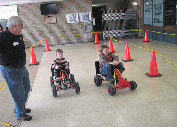 News Photo by Tyler Winowiecki The Alpena Optimist Club hosted its annual Spring Break Family Fun Day that brought in pedal car racing. The three lap race was sponsored by Thunder Bay Chrysler and Cliff Anschutz Chevrolet.