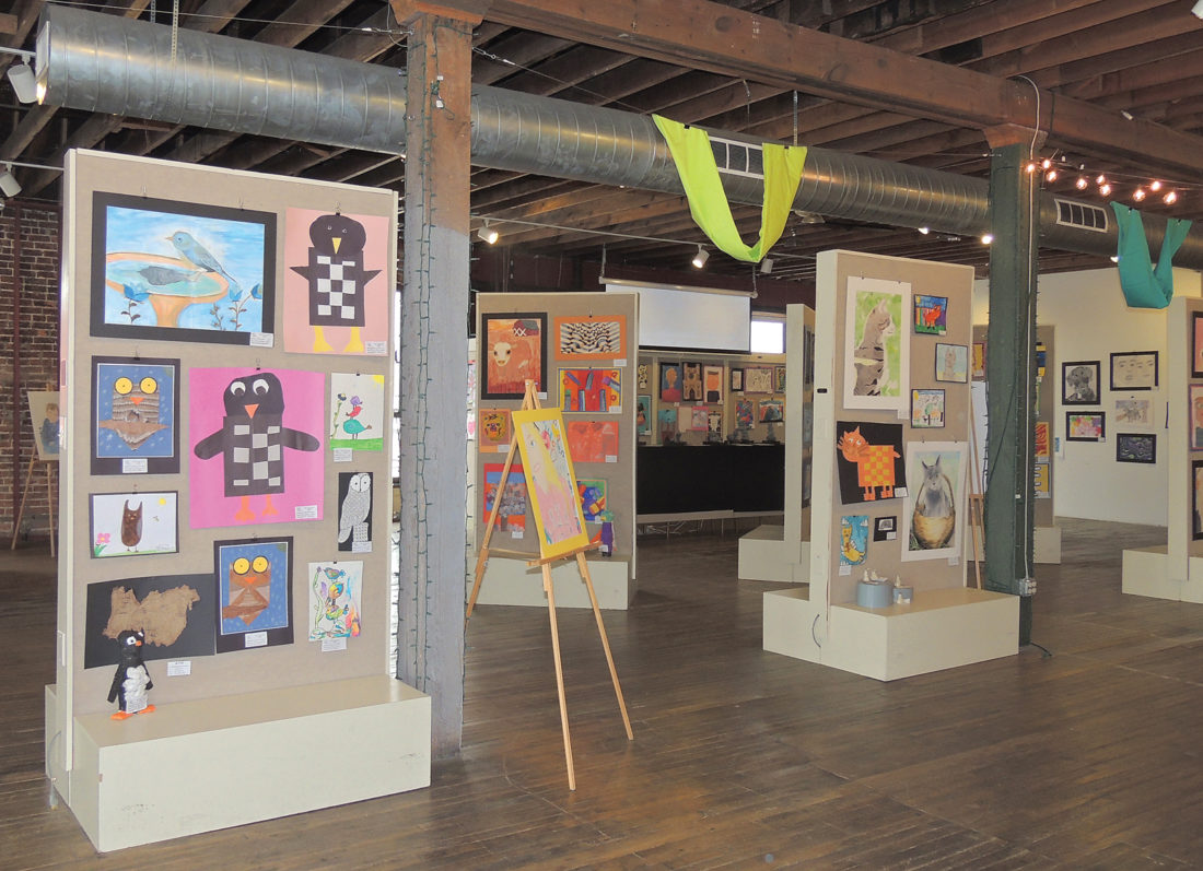 artwork by area students fills gallery space news sports jobs news photo by diane speer art in the loft s young artists exhibit will be on display
