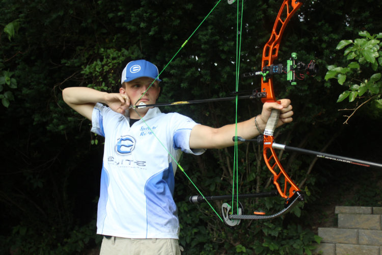 Photo by Bruce Crawford Pictured is Mason Dowell shooting his bow.