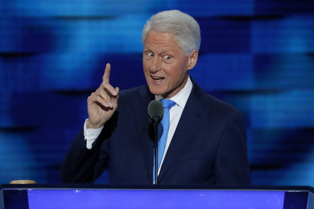 AP Photo - Former President Bill Clinton speaks during the second day of the Democratic National Convention in Philadelphia  Tuesday.