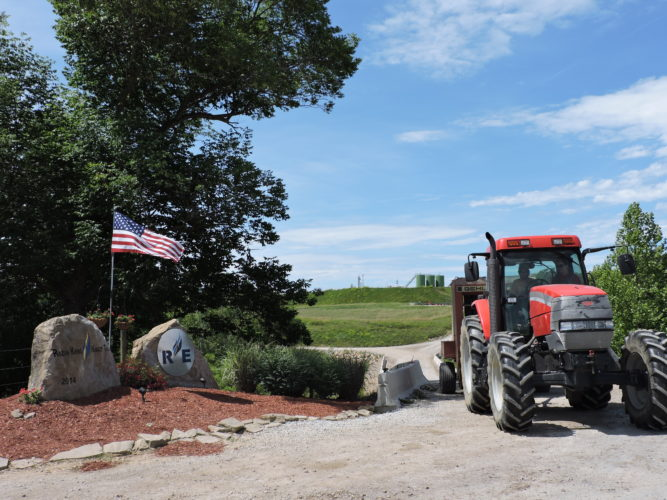 """File Photo Belmont County farmers continue growing crops alongside the Rice Energy """"Razin' Kane"""" and """"Krazy Train"""" well sites."""
