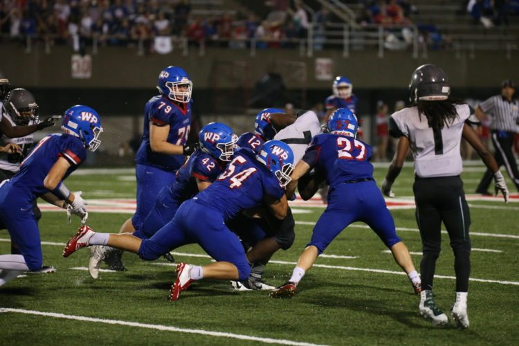 Photo by ALEX KOZLOWSKI / The  Wheeling Park defense will have its hands full when it faces University on Friday in Morgantown.