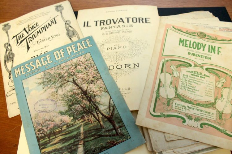 Photo Provided Collectible sheet music is an enjoyable hobby for music lovers and antique enthusiasts. These examples are part of the collection of Wheeling resident Bonnie Bowman Thurston and once belonged to her grandmother, Lila May Lewis King.