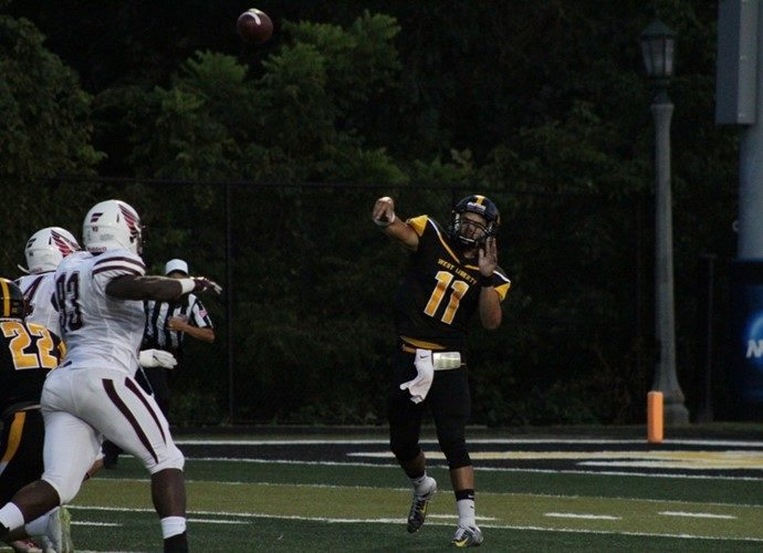 Photo provided by WLU Athletics West Liberty quarterback Dakota Conwell throws a pass in a game earlier this season.