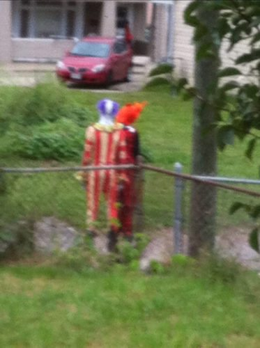Photo Provided A Bellaire resident took this photo of clowns in the streets of Bellaire and notified police of their presence.