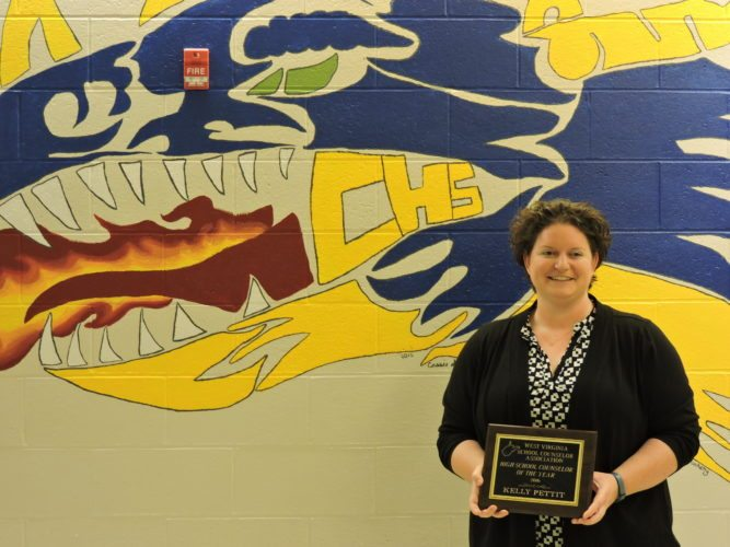 Photo by Alan Olson Cameron High School counselor Kelly Pettit was named West Virginia High School Counselor of the Year earlier this month.