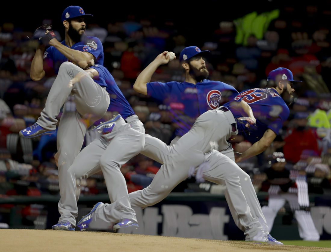 Cubs beat Cleveland 5-1, even World Series at 1