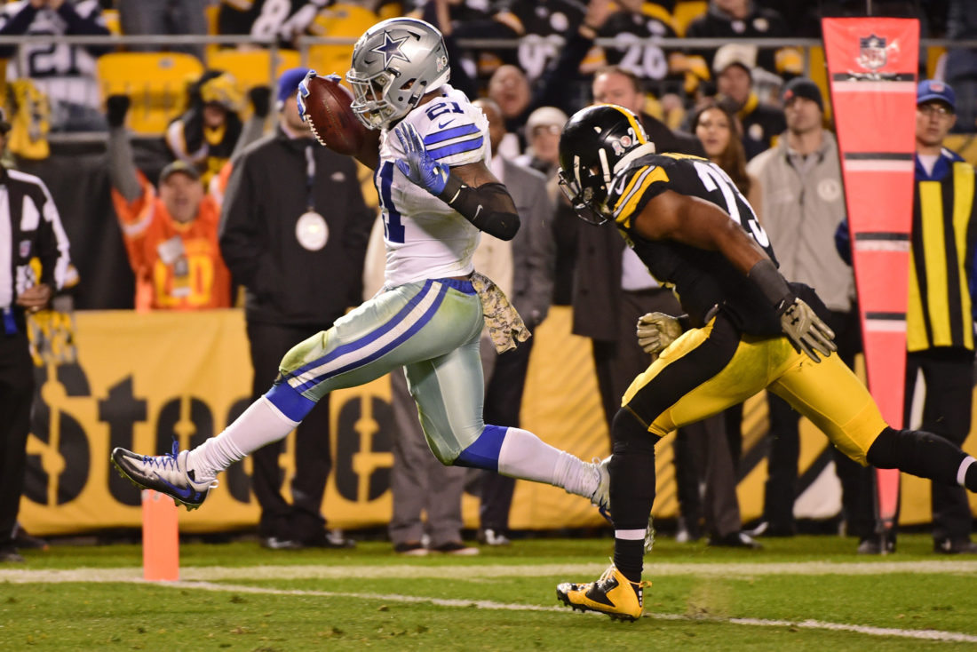 Elliott Scores Twice Late, Cowboys Top Steelers 35-30
