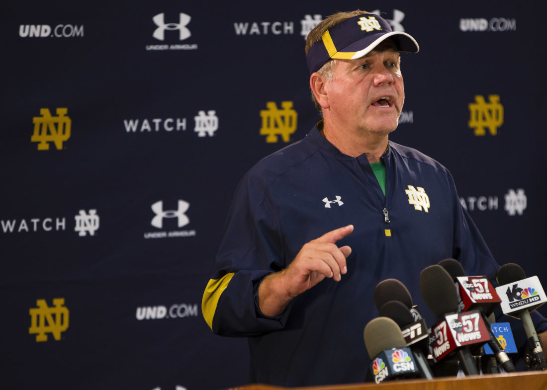 Notre Dame football team placed on probation