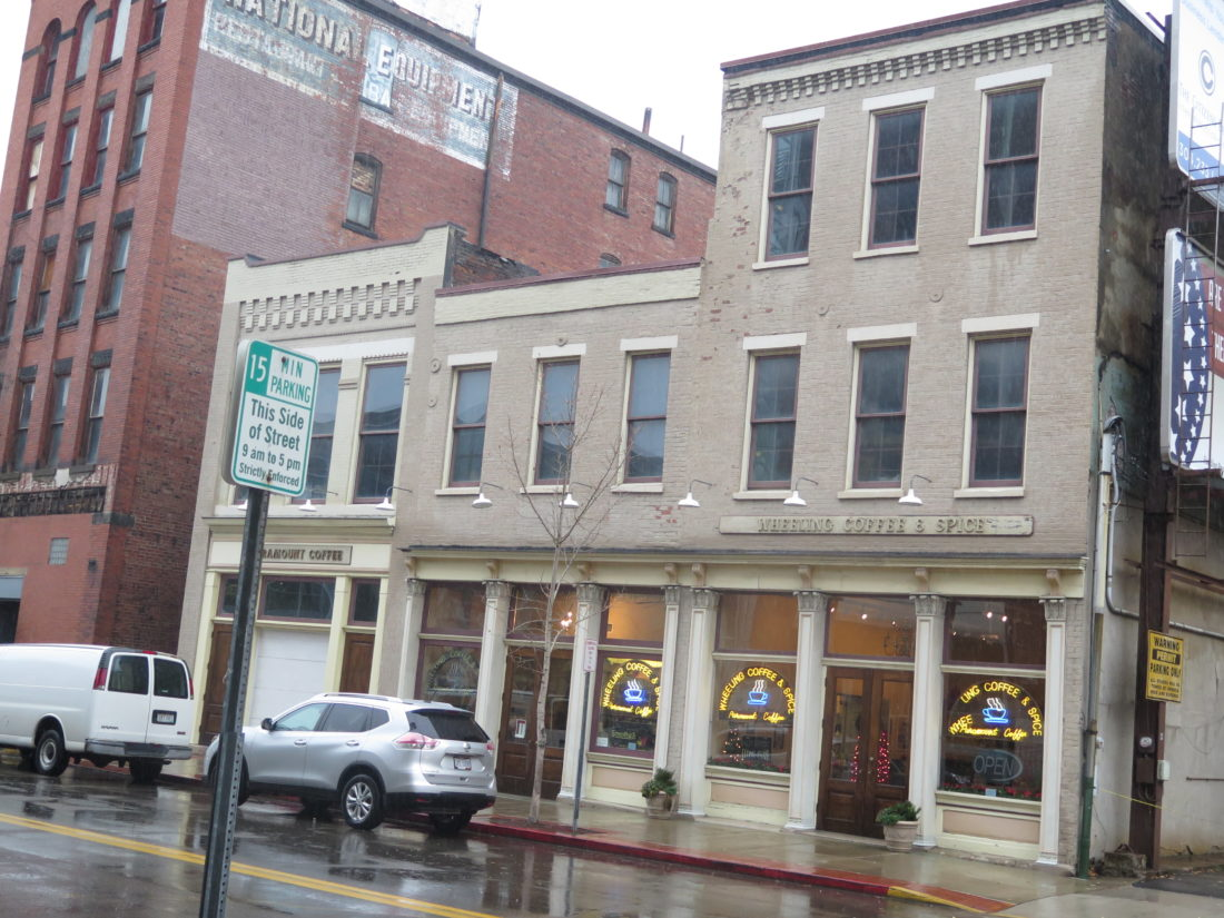 putting a new face on buildings in downtown wheeling news photo by alec berry wheeling coffee and spice a property which benefited from wheeling s now