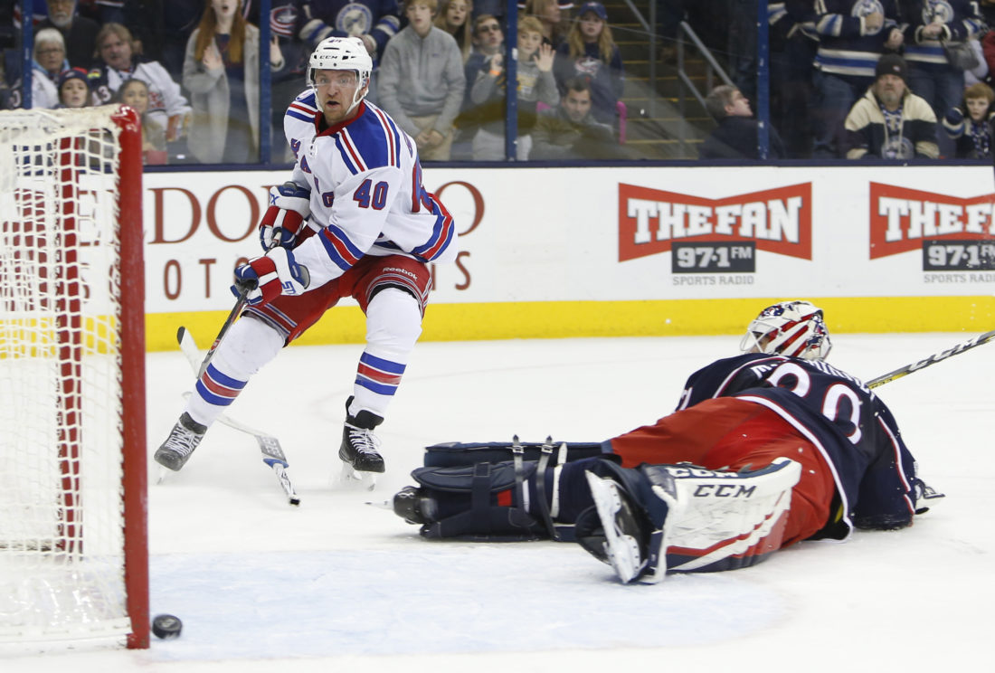Rangers Top Blue Jackets Late | News Sports Jobs - The Intelligencer