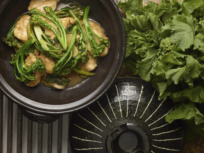 This Jan. 2, 2017 photo provided by The Culinary Institute of America shows Chinese take-out chicken & Broccoli Rbe in Hyde Park, N.Y. This dish is from a recipe by the CIA. (Phil Mansfield/The Culinary Institute of America via AP)