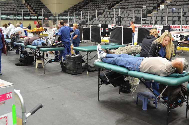 File photo by Scott McCloskey The annual Ohio Valley Media Day blood drive is set from 11 a.m. to 5:30 p.m. Monday at WesBanco Arena in downtown Wheeling.