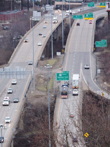 """Photo by Casey Junkins Nine bridges along Interstate 70 in Ohio County are rated """"structurally deficient"""" by the American Road & Transportation Builders Association."""
