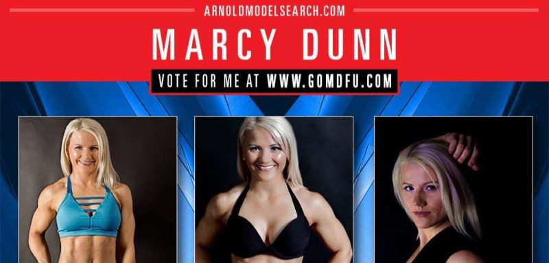 Marcy Dunn entered this series of photos of herself to be considered for the Arnold Fitness Model Search, which will take place March 3 in Columbus. She is one of 12 women nationwide chosen to compete.
