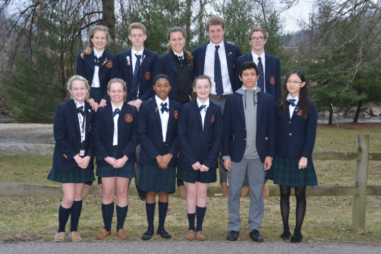 Photo Provided Members of the Linsly swim team that competed at Eastersns this week are, front, from left, Brynleigh Buff, Eve Ridenhour, Sian Longle, Alexandria Behm, Alejandro Rodriguez and Carol Gao. Back row is Sydney West, Michael Schwarz, Carliegh West, Kevin Pietz and Kaleb Nuckles-Polen