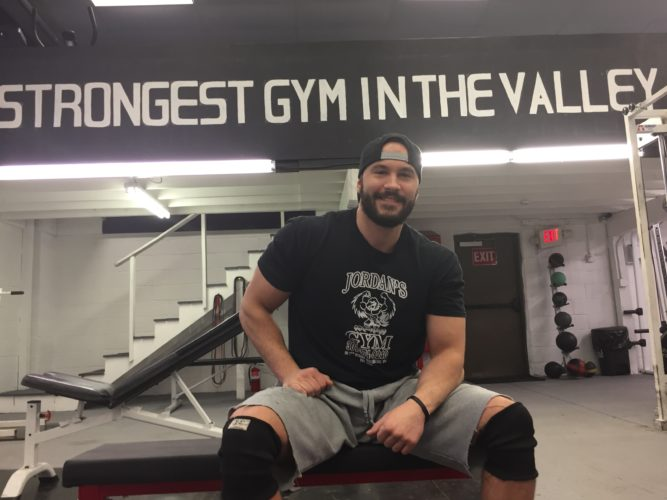 "Photo by Kyle Lutz Zeke O'Connell poses for a picture inside ""The Real Gym."" The gym opened in December 2016."