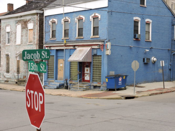 Photo by Casey Junkins At the corner of 15th and Jacob streets in East Wheeling sits the American Legion Post 89. Due to a high number of police calls in the area, City Manager Robert Herron and Police Chief Shawn Schwertfeger recommended the bar be declared a public nuisance.