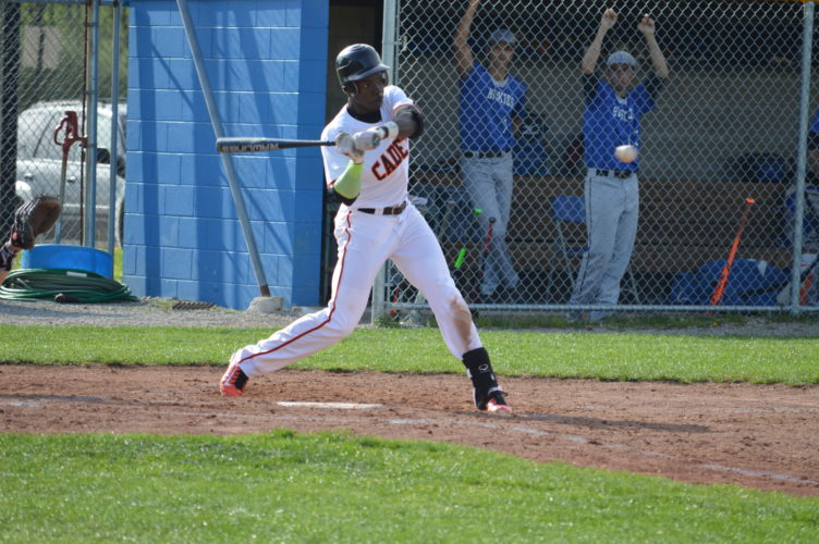 Photo by Cody Tomer. Linsly's Warren Saunders takes a swing at a pitch during Friday's game against Harrison Central at Sally Buffalo Park.