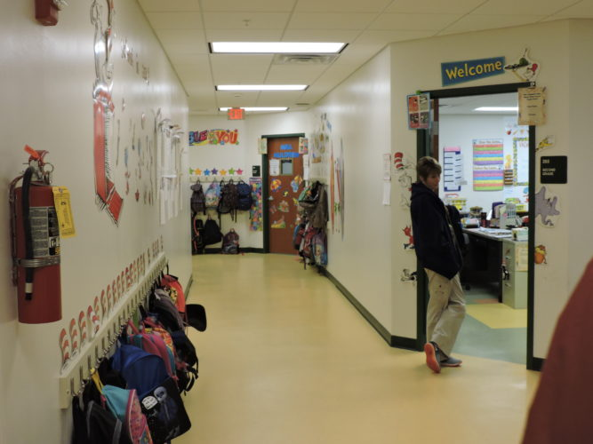 Photo by Alan Olson McNinch Primary School holds classes. It recently had walls built to enclose previously open classrooms, a safety measure expected to be implemented at several other schools in Marshall County.