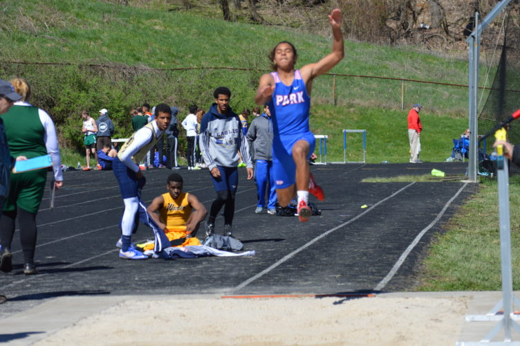 Photo by Kyle Lutz Wheeling Park's Maezi Mosby has high expectations in the long jump in his senior season.