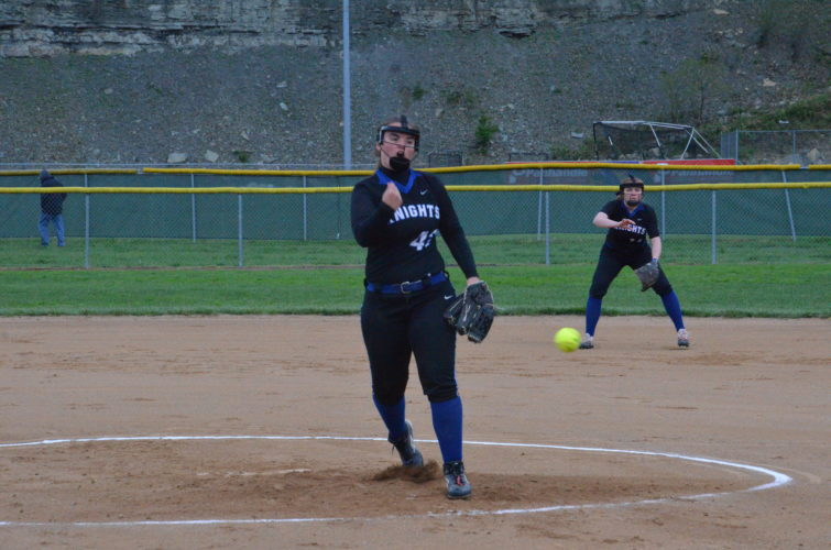 Photo by Kim North / Tyler Consolidated's Vanessas Templeton throws a pitch during a 3A OVAC semifinal game.
