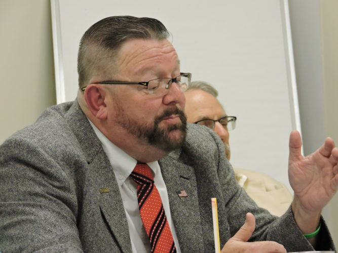 Moundsville Councilman Phil Remke voices his opinion on the Four Seasons Pool, which he sees as a financial burden on the city.