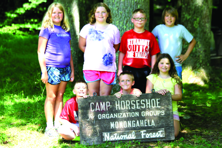 Attending from Randolph County the week of July 10-16 were, from left, first row, Russell Corley, Logan Jones and Izzy Mullennex; second row, Kylie Jones, Beth Mullennex, Gauge Ferrell Jr. and Isaiah Burke.