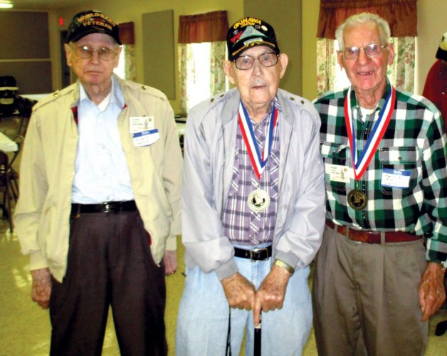 The Civilian Conservation Corps honors Albert Kehrer, James Lewis and B.D. Linn at the Annual Autumn Recognition Jubilee.